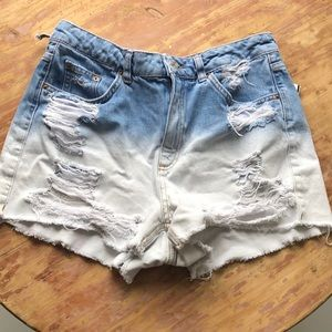 Topshop Mom Distressed shorts